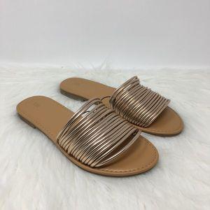 Forever 21 golden slide sandals